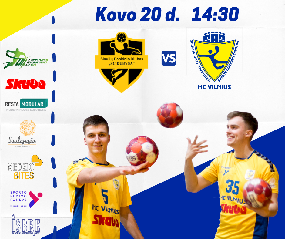 """Šeštadienį laukia dvikova su Šiaulių rankinio klubas """"SC Dubysa"""" 💪🤾♂️"""